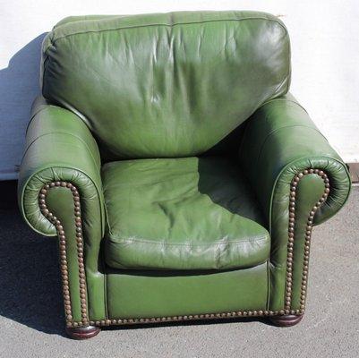 Poltrona Pelle Verde.Poltrona In Pelle Verde Anni 60