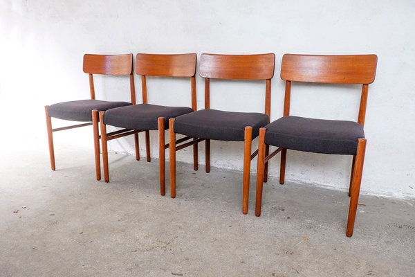 Danish Teak Dining Chairs 1950s Set Of 4 For Sale At Pamono