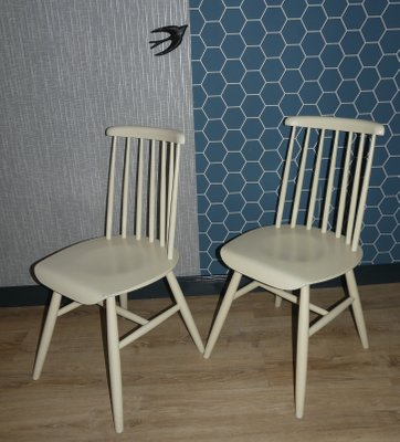 White Wooden Dining Chairs Set Of 2