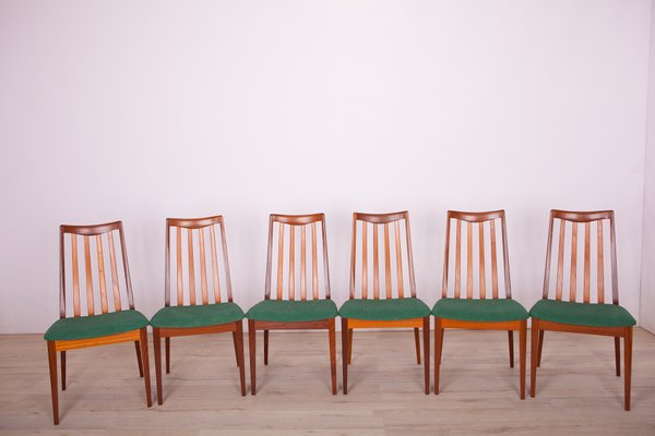 Fabric and Teak Dining Chairs by Leslie Dandy for G Plan, 1960s, Set of 6