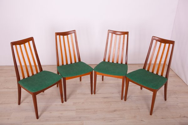 Fabric And Teak Dining Chairs By Leslie Dandy For G Plan 1960s Set Of 4 For Sale At Pamono