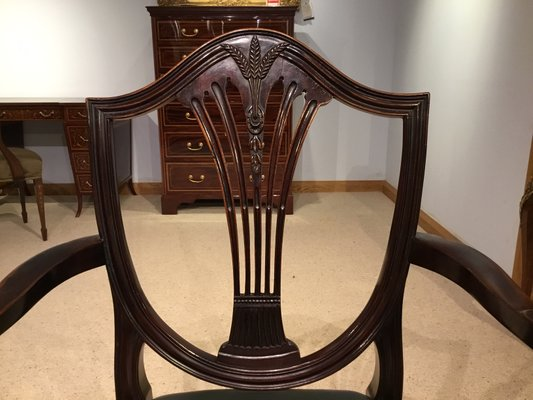 Astounding Antique Hepplewhite Style Dining Chairs Set Of 16 Ncnpc Chair Design For Home Ncnpcorg