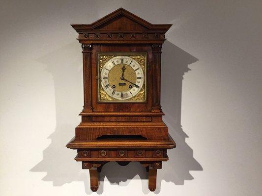 Antique Victorian Walnut Bracket Clock