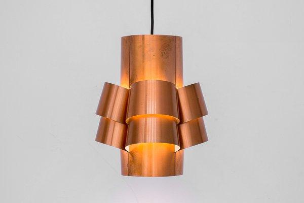 Brass Ceiling Lamp by Hans Agne Jakobsson for Hans Agne Jakobsson AB Markaryd, 1960s