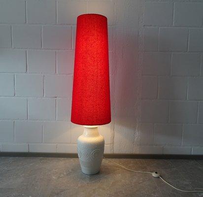 blanco de rojo pie de en 60 y Scheurichaños de Lámpara grande cerámica f6bgYy7v