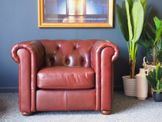 Superb Oxblood Chesterfield Armchair 1980S Inzonedesignstudio Interior Chair Design Inzonedesignstudiocom