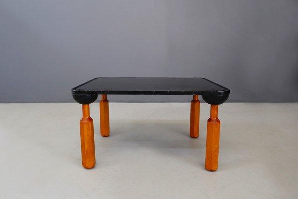 Lacquered Wood Coffee Table By Achille Castiglioni For Zanotta 1970s