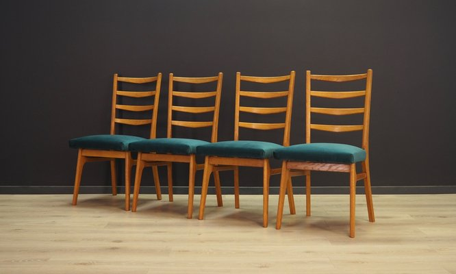 Vintage Danish Dining Chairs 1970s Set Of 4