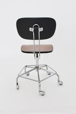 Sedia Girevole Metallo.Sedia Girevole Marrone In Metallo Cromato Germania Anni 50