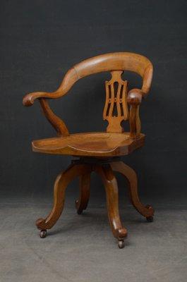 Magnificent Antique Victorian Oak Desk Chair Uwap Interior Chair Design Uwaporg