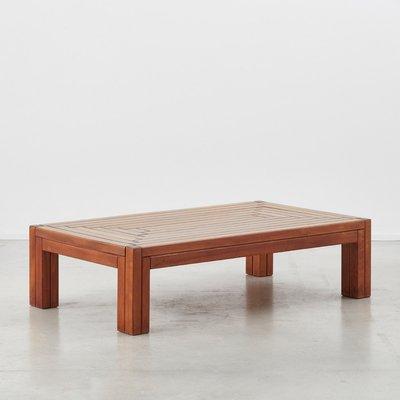 Vintage Italian Wood Coffee Table From Urano Palma 1980s