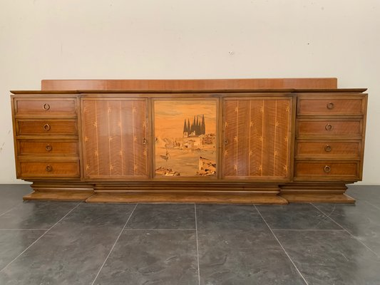 Art Deco Style Sideboard From Giuseppe Anzani 1940s For Sale At Pamono