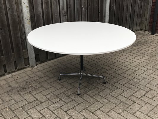 Vintage Round Dining Table By Charles Ray Eames For Vitra 1980s