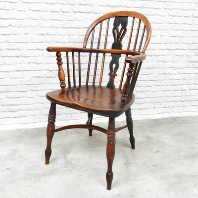 Antique Windsor Lowback Dining Chairs