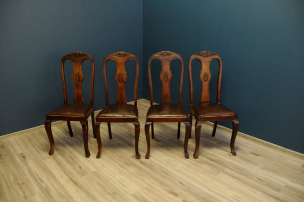 Astounding Art Deco Style Dining Chairs 1960S Set Of 4 Machost Co Dining Chair Design Ideas Machostcouk