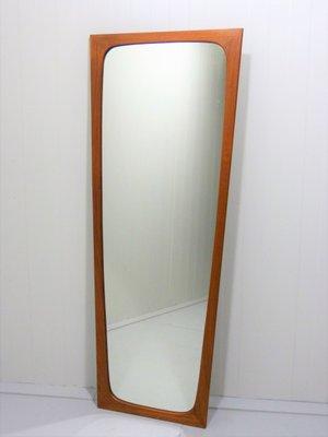Specchio da parete in teak di Aksel Kjersgaard per Odder Møbler, anni \'60