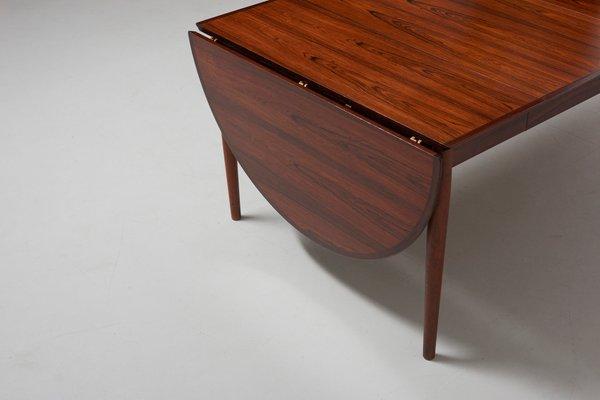 Vintage Rosewood Drop Leaf Dining Table By Arne Vodder For Sibast 1950s