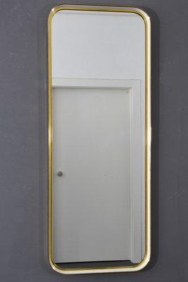 Specchio da parete grande vintage in ottone di Münchner Zierspiegel, anni  \'60