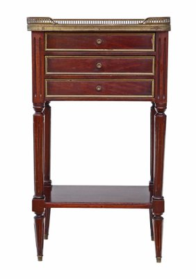 purchase cheap ea04a 98aa0 Antique French Mahogany & Marble Bedside Table