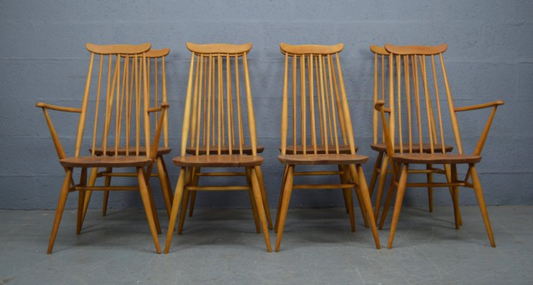 Incredible Mid Century Dining Chairs By Lucian Ercolani For Ercol 1960S Set Of 8 Alphanode Cool Chair Designs And Ideas Alphanodeonline