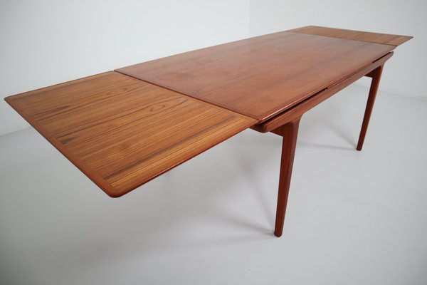 Mid Century Danish Teak Extendable Dining Table From J L Mollers 1950s For Sale At Pamono