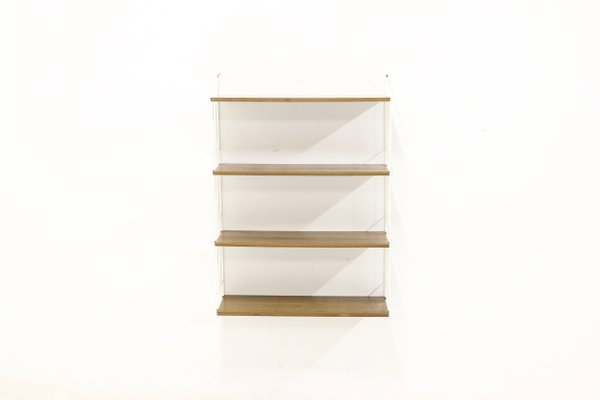 more photos 03953 53bbe Mid-Century Metal and Teak Ladder Shelf from WHB, 1960s