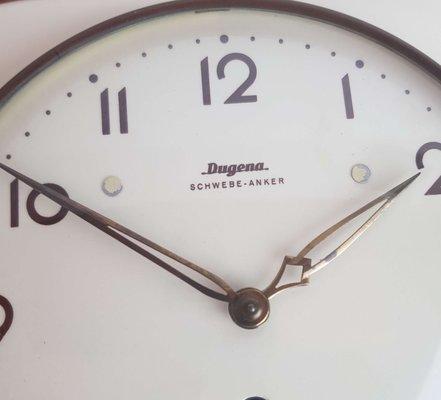 Orologio da parete da cucina in ceramica di Dugena, anni \'50