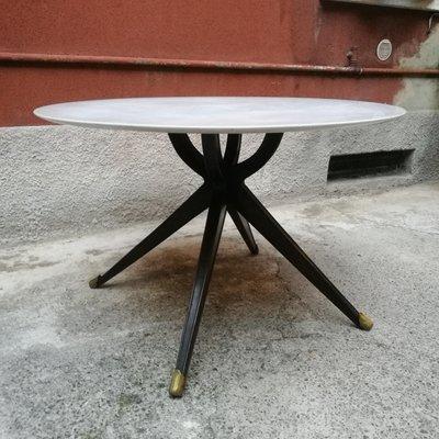 Tavolo Marmo Legno.Tavolo Da Pranzo In Legno E Marmo Bianco Italia Anni 50