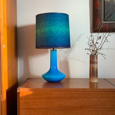 Turquoise Glass Table Lamp mainlevel.at