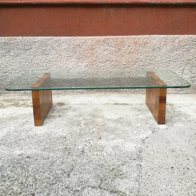 Super Italian Glass And Wooden Coffee Table 1980S Pdpeps Interior Chair Design Pdpepsorg
