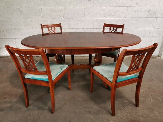 Mahogany Dining Table Chairs Set From Selfridges 1980s Of 5