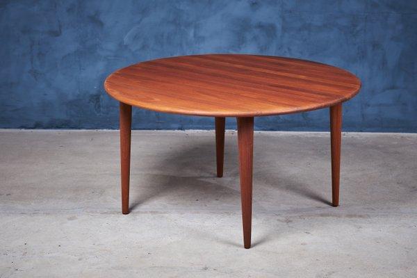 Round Mid Century Danish Teak Coffee, Round Teak Coffee Table