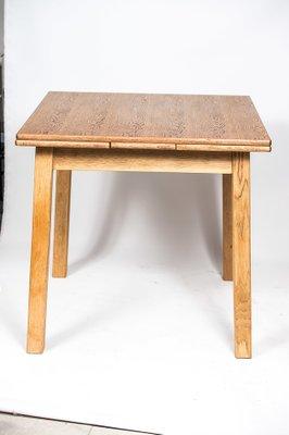 Mesa de comedor plegable vintage de roble