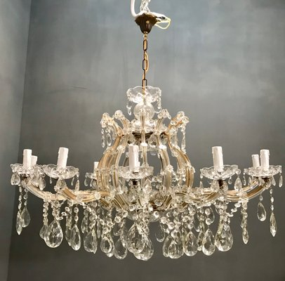 40's Venetian Glass Chandelier | Glass chandelier