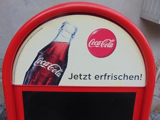 Cartel Publicitario De Coca Cola Vintage En Venta En Pamono