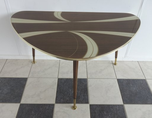 White Gl Kidney Shaped Coffee Table
