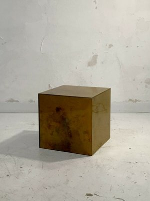 Vintage French Golden Cube Coffee Table From Maison Jansen 1970s