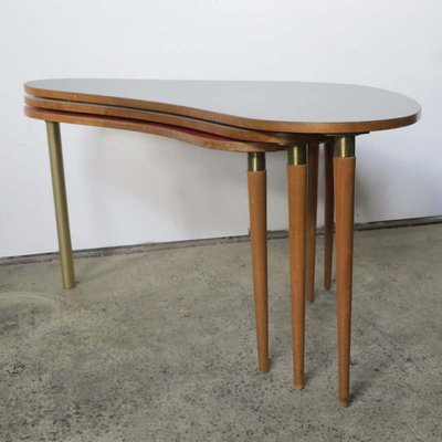 Kidney Shaped Coffee Table 1950s