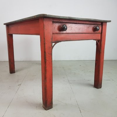 Vintage Painted Pine Kitchen Table 1920s For Sale At Pamono
