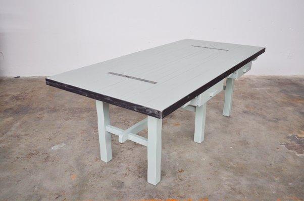 Tavoli In Acciaio E Legno.Tavolo Da Pranzo Industriale In Legno E Acciaio Di Atelier Borella