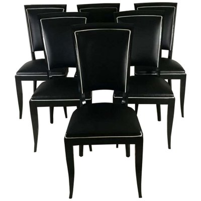Terrific Leather Dining Chairs 1940S Set Of 6 Alphanode Cool Chair Designs And Ideas Alphanodeonline