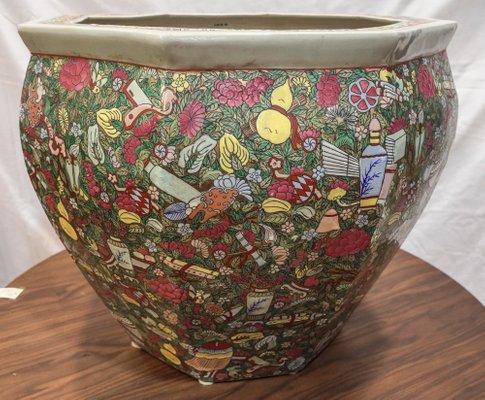 Enameled Porcelain Cache Pot