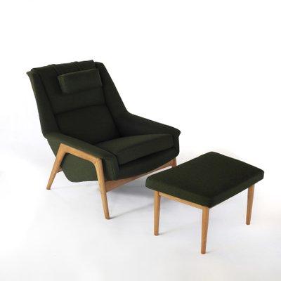 Pleasing Vintage Lounge Chair Ottoman Set By Folke Ohlsson For Dux 1960S Ibusinesslaw Wood Chair Design Ideas Ibusinesslaworg