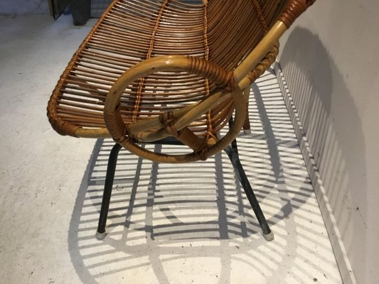 Strange Small Vintage Rattan Bench From Rohe Noordwolde 1960S Machost Co Dining Chair Design Ideas Machostcouk