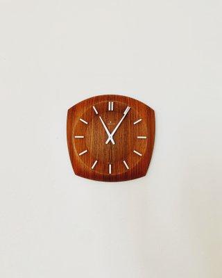 Horloge Murale Vintage en Teck de Junghans, années 60