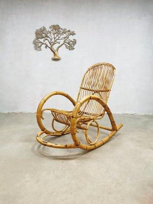 Awe Inspiring Rattan Rocking Chair From Rohe Noordwolde 1960S Beatyapartments Chair Design Images Beatyapartmentscom