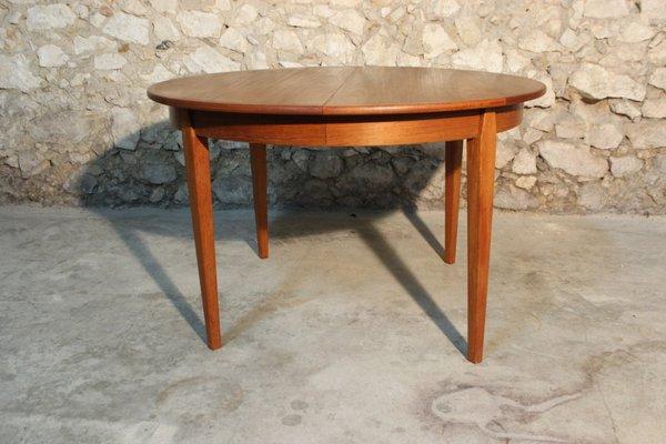 Mesa de comedor extensible danesa vintage grande de Willy Sigh para Sigh &  Søns Møbelfabrik, años 60
