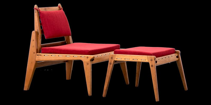 Outstanding Mid Century Lounge Chair Ottoman From Dwh 1950S Gmtry Best Dining Table And Chair Ideas Images Gmtryco