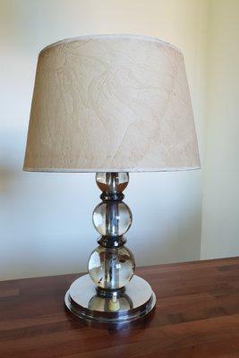 Vintage Modernist Art Deco Table Lamp By Jacques Adnet
