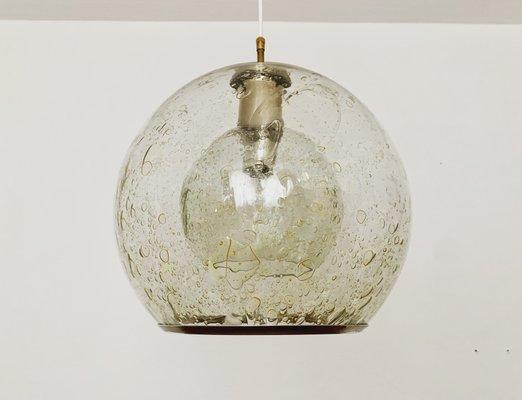 Vintage Bubble Glass Pendant Lamp from Doria Leuchten, 1960s